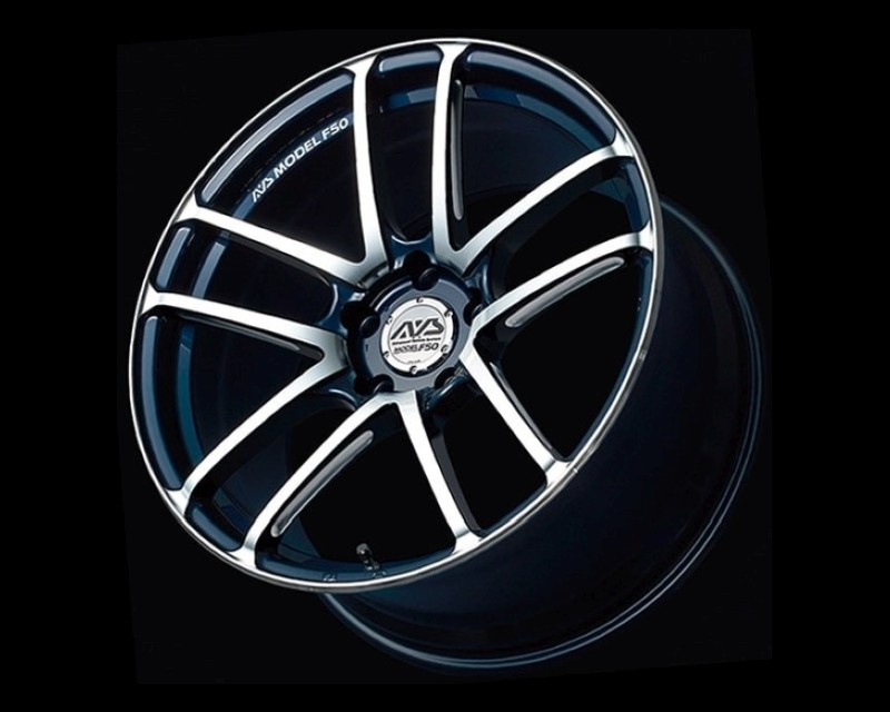 AVS Model F50 Wheel 19x9 5x120 53mm Platinum Blue Combi