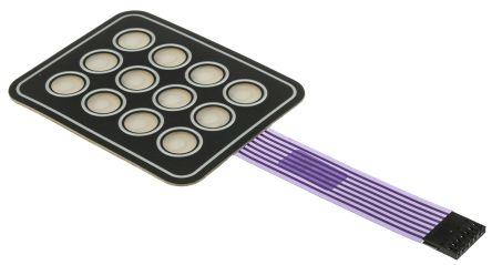 APEM 4x3 self-adhesive membrane keypad