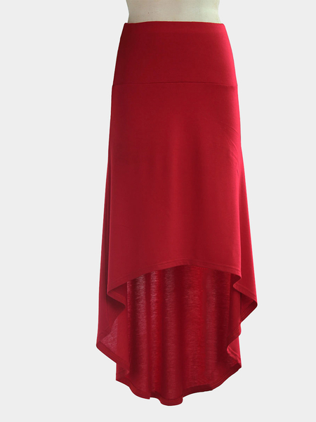 Yoins Burgundy High-low Hem Pencil Skirt