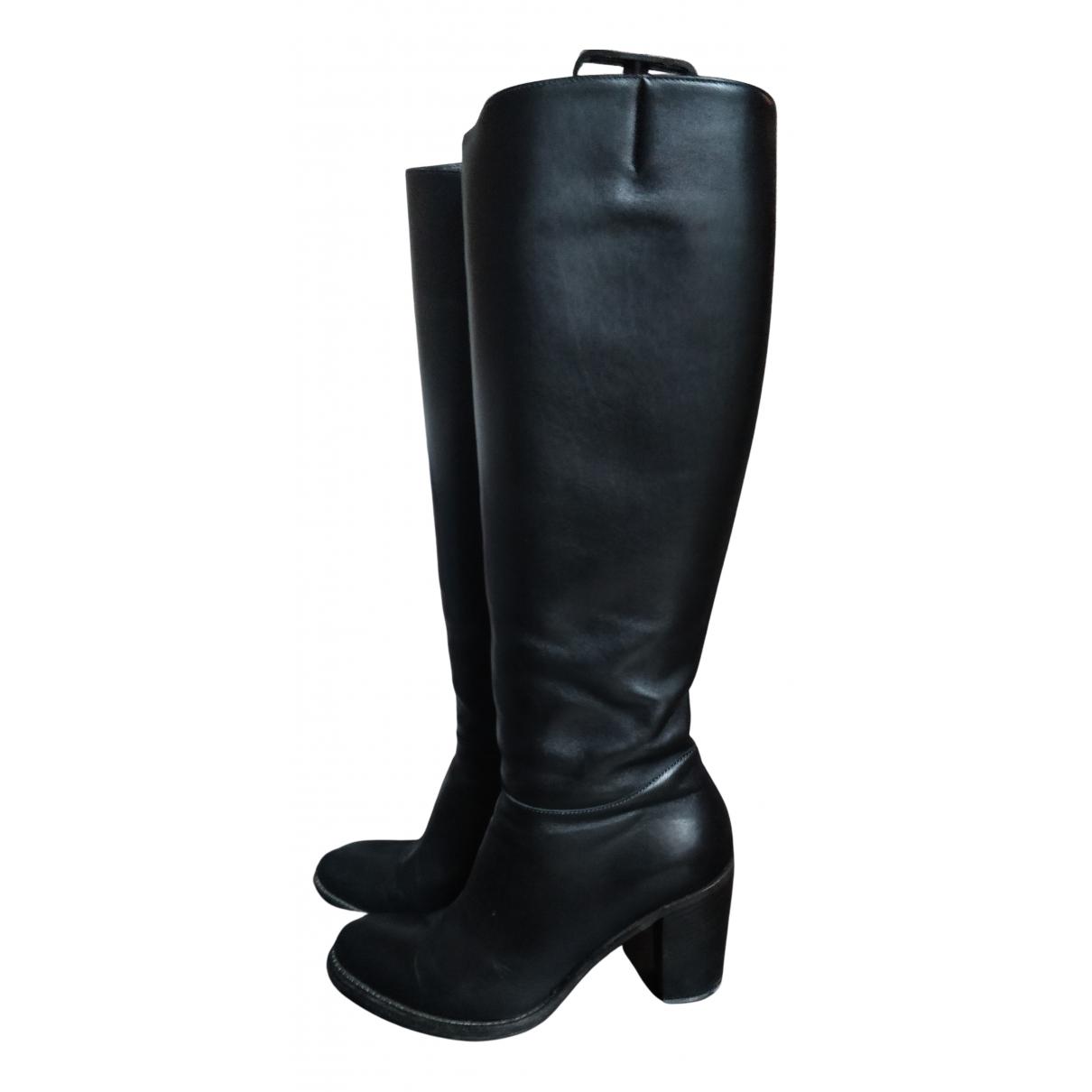 Heschung \N Stiefel in  Schwarz Leder