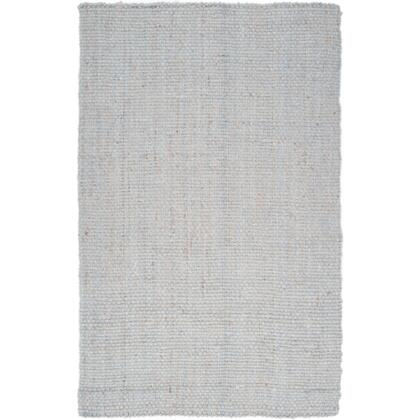 JS220-58 5' x 8' Rectangular Reversible 100% Jute Rug with No Pile and Hand Woven in India in Light