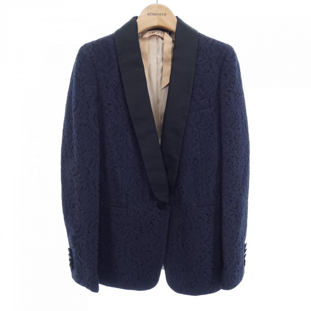 N°21 \N Navy Cotton jacket for Women 36 IT