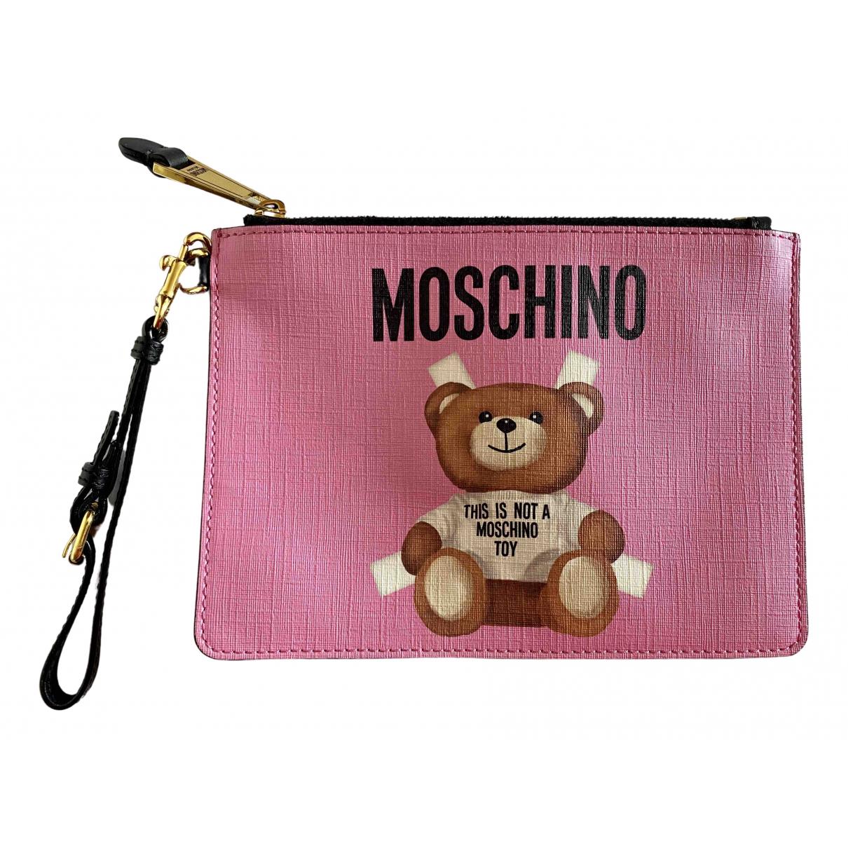 Bolsos clutch en Sintetico Rosa Moschino