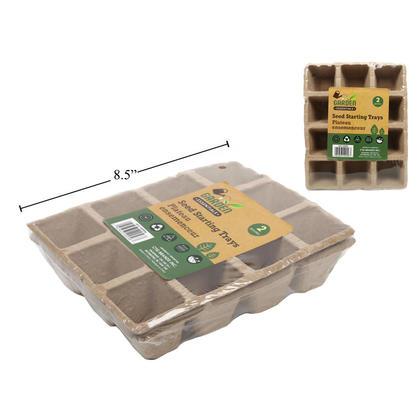 Garden Essentials Seed Starting Trays 2pcs, 8.3x6.7x2