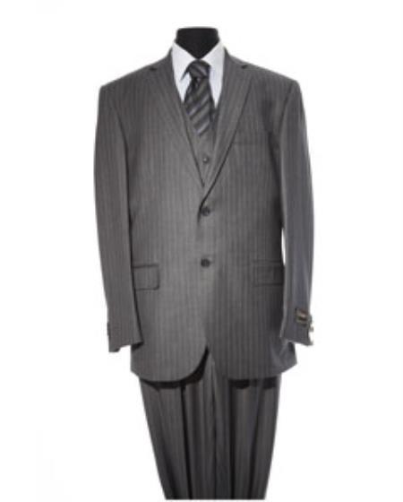 Mens Dark Grey 2 Button  2 Piece Suit