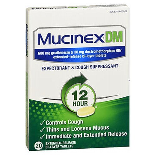 Mucinex Dm Expectorant Cough Suppressant Extended Release 20 tabs by Mucinex Dm