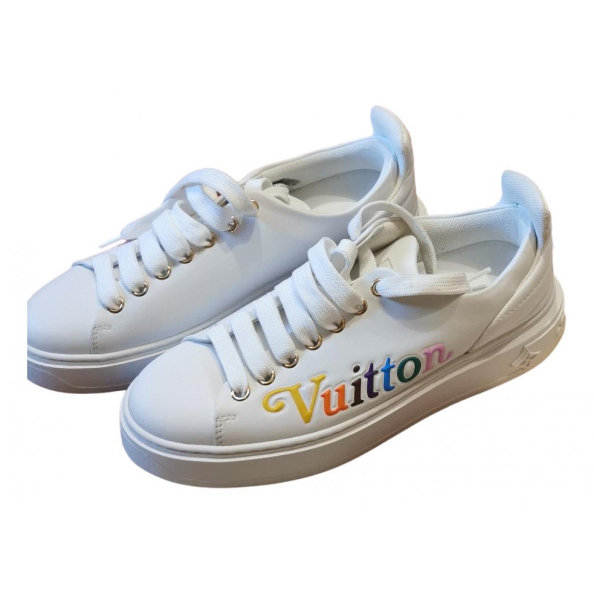 Louis Vuitton - Baskets TimeOut pour femme en cuir - blanc