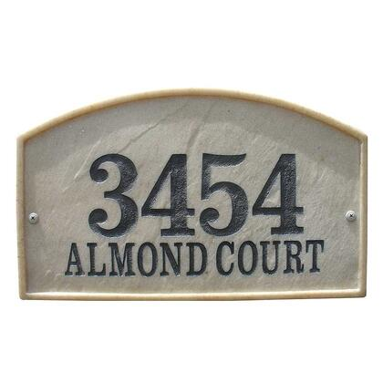 RIV-4602-SS Riviera Arch Crushed Stone Address Plaque in Sandstone