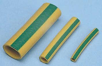 SES Sterling Expandable Neoprene/Chloroprene Green/Yellow Protective Sleeving, 3mm Diameter, 25mm Length