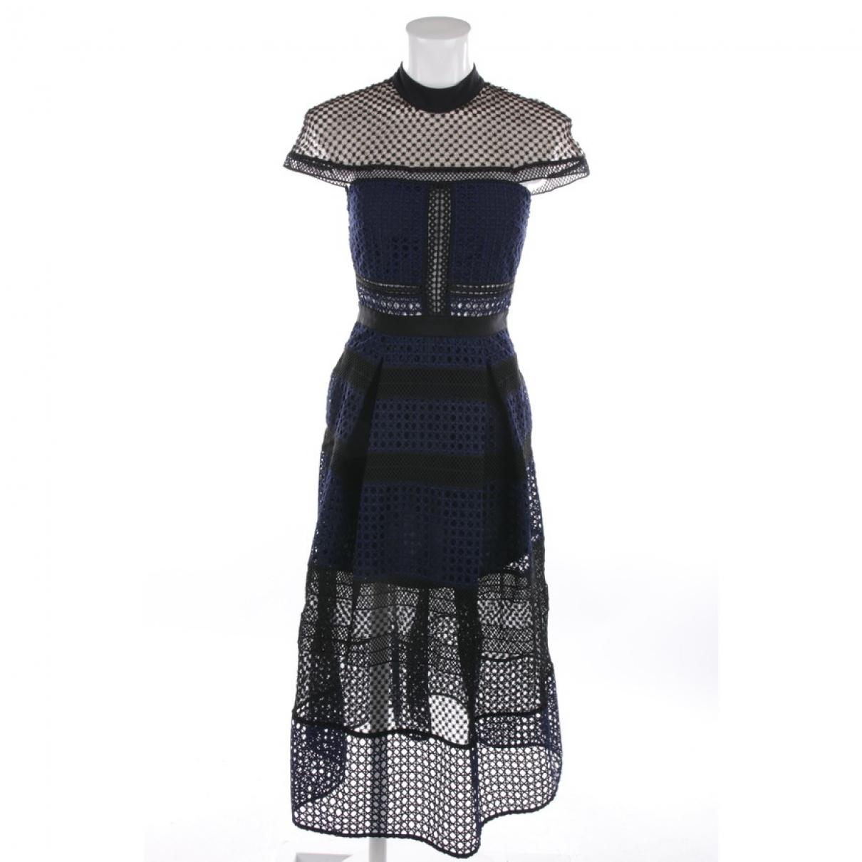 Self Portrait \N Blue Silk dress for Women 34 FR