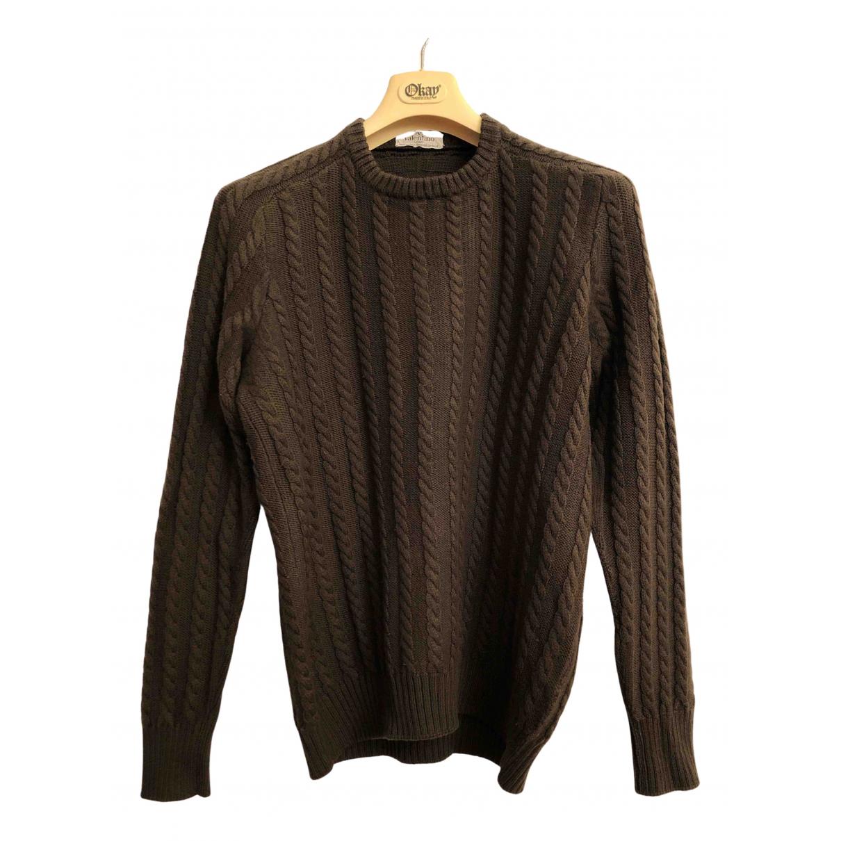 Valentino Garavani - Pull   pour femme en laine - marron