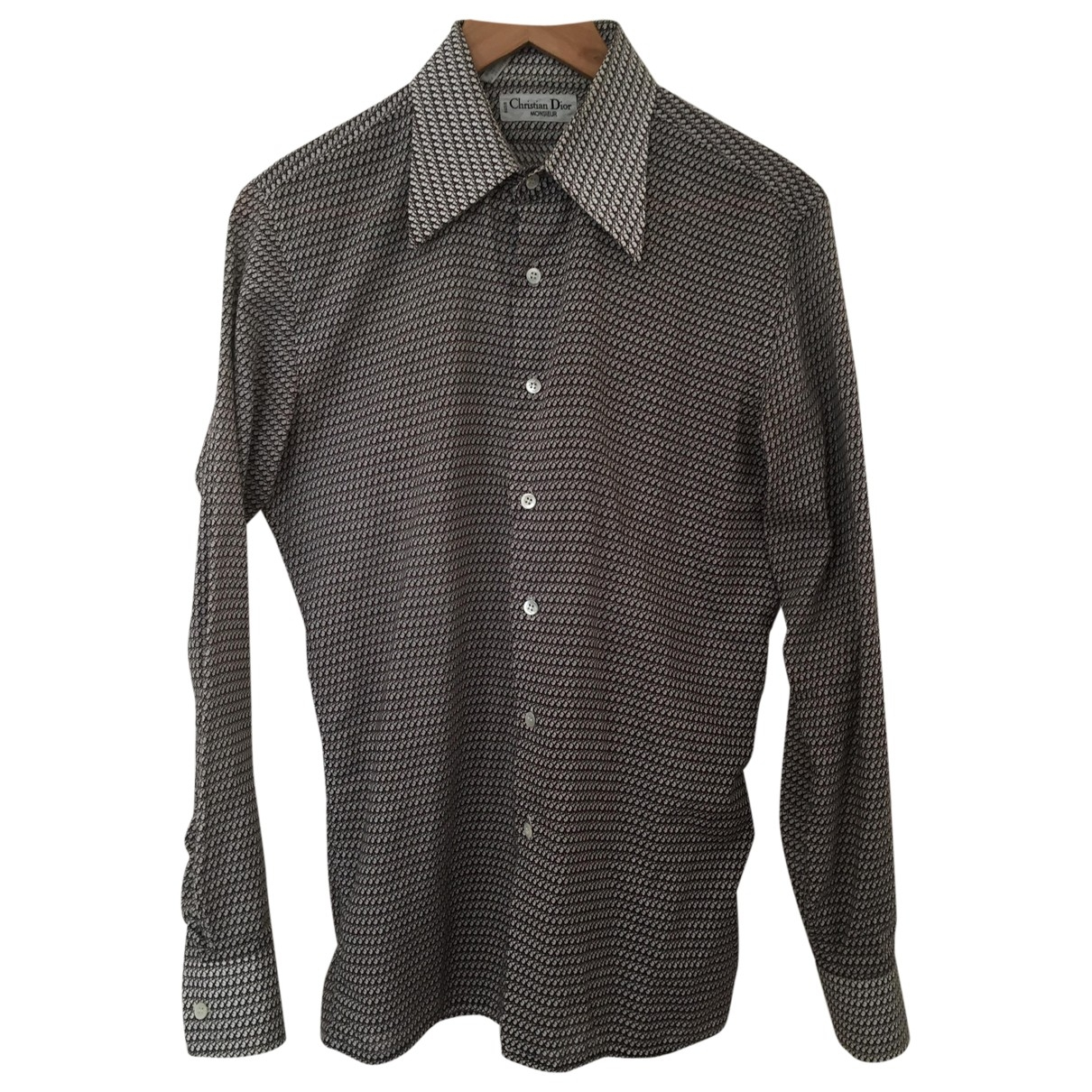 Dior \N Brown Cotton Shirts for Men 37 EU (tour de cou / collar)