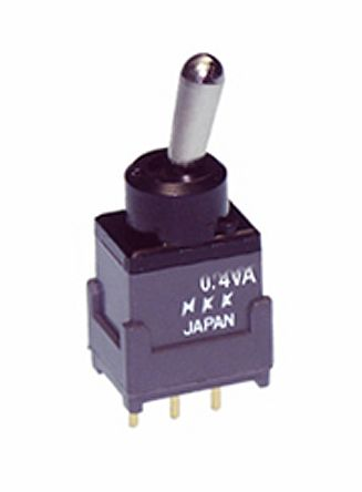 NKK Switches SPDT Toggle Switch, On-Off-(On), IP65, PCB