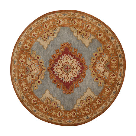 Safavieh Heritage Collection Lavone Oriental Round Area Rug, One Size , Multiple Colors