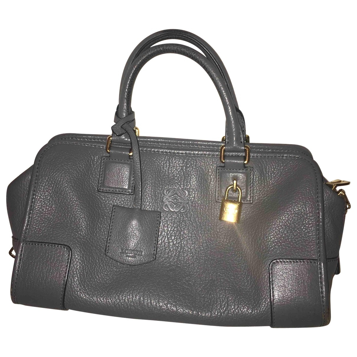 Loewe Amazona Handtasche in  Grau Leder