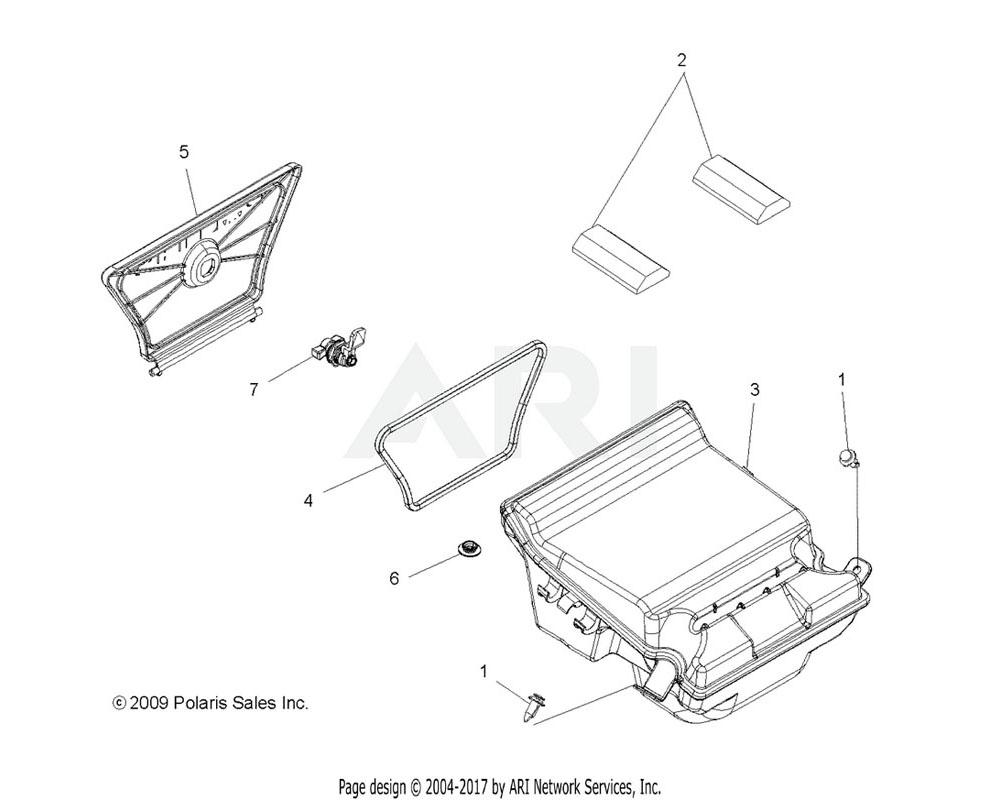 Polaris OEM 1203654 Asm., Box, Rear