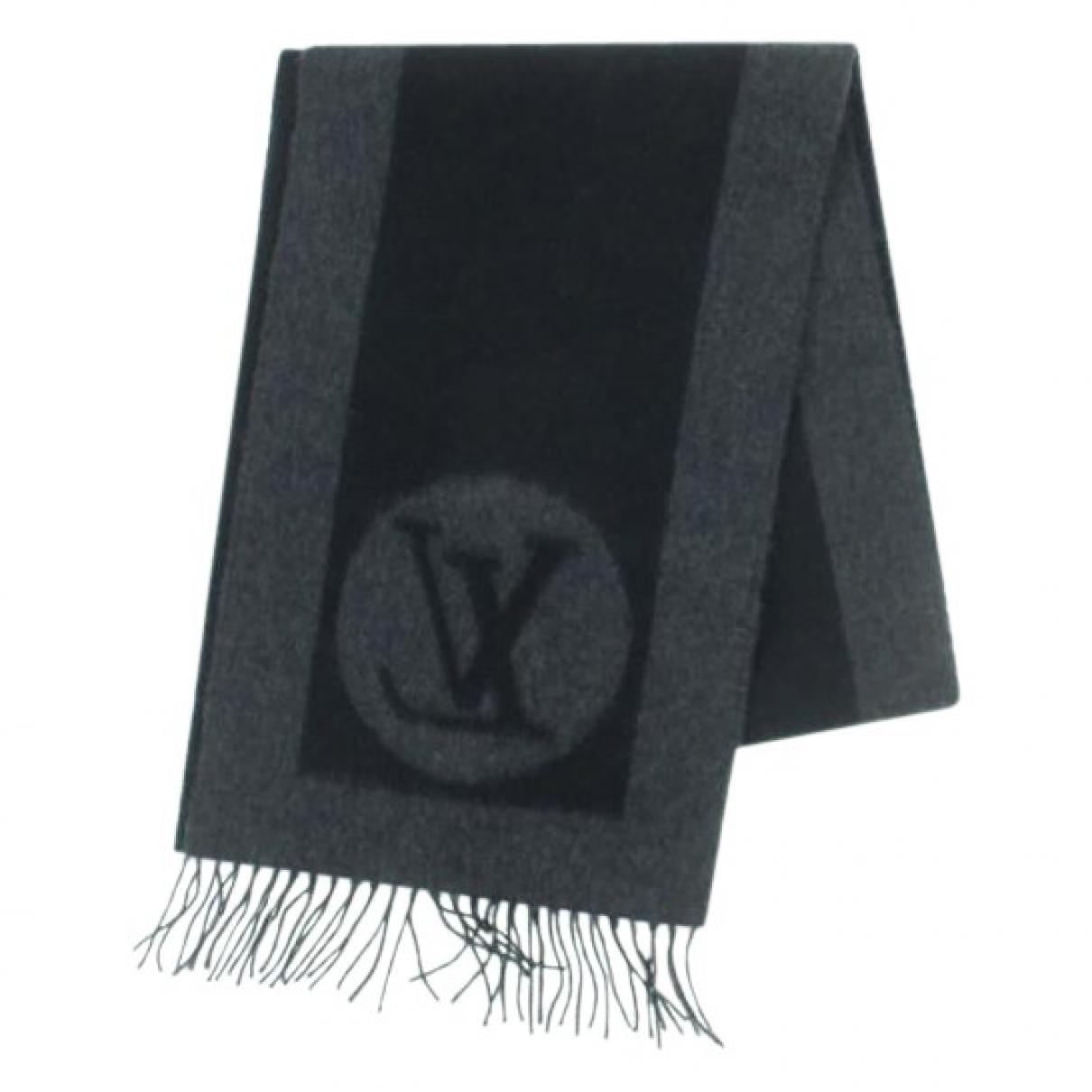 Louis Vuitton - Cheches.Echarpes   pour homme en laine - noir