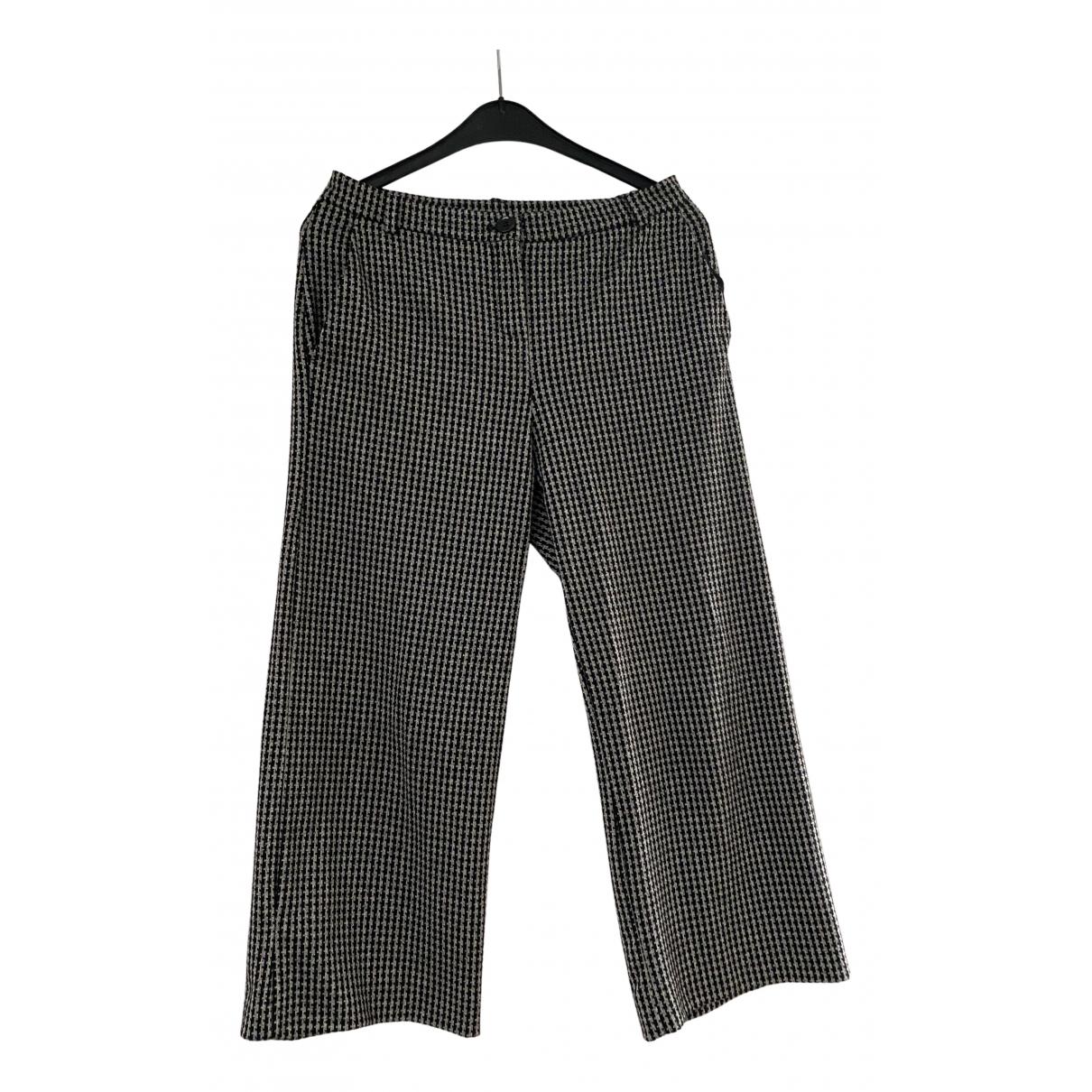 Pantalon en Viscosa Negro Max Mara Weekend