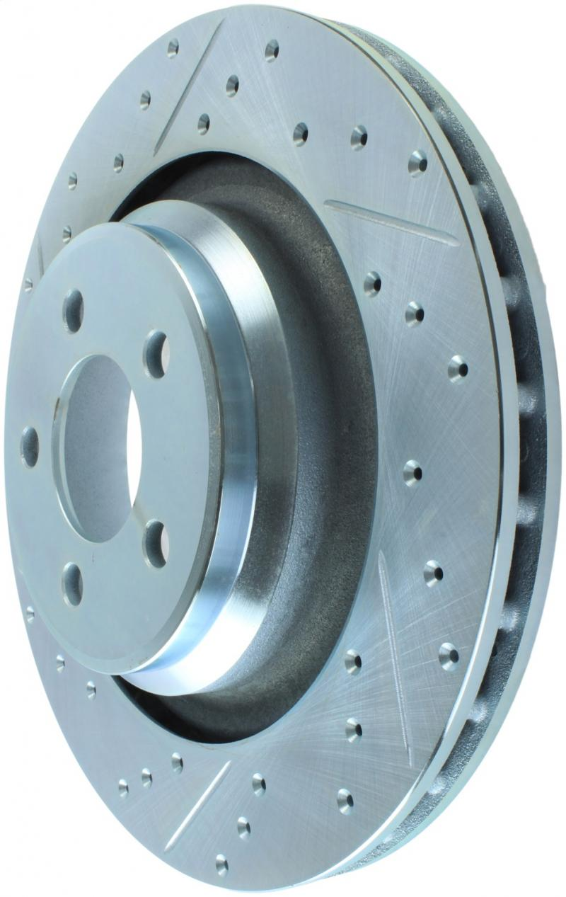 StopTech 227.63064R Select Sport Drilled and Slotted Brake Rotor; Rear Right