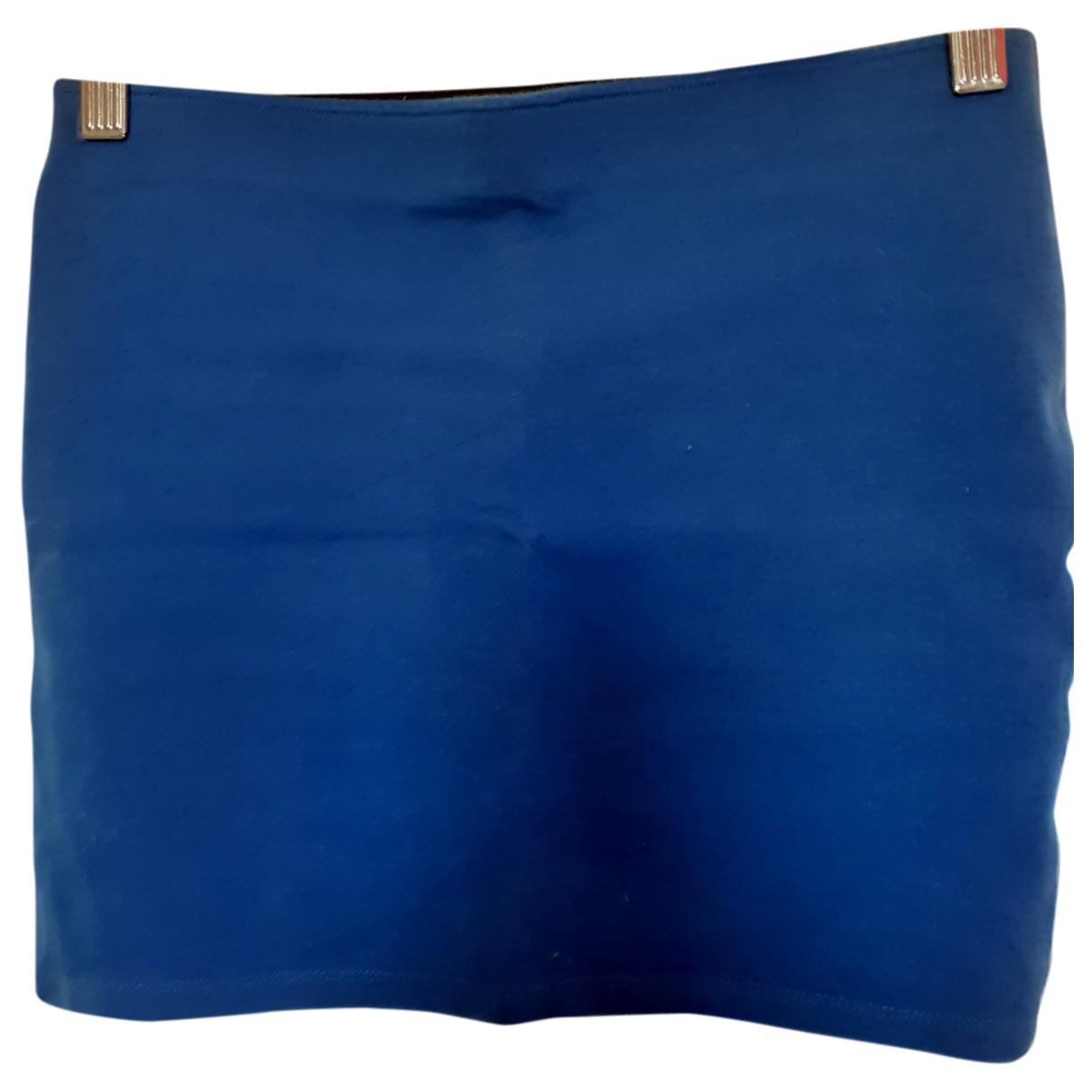 Zara N Blue Cotton - elasthane skirt for Women 38 FR