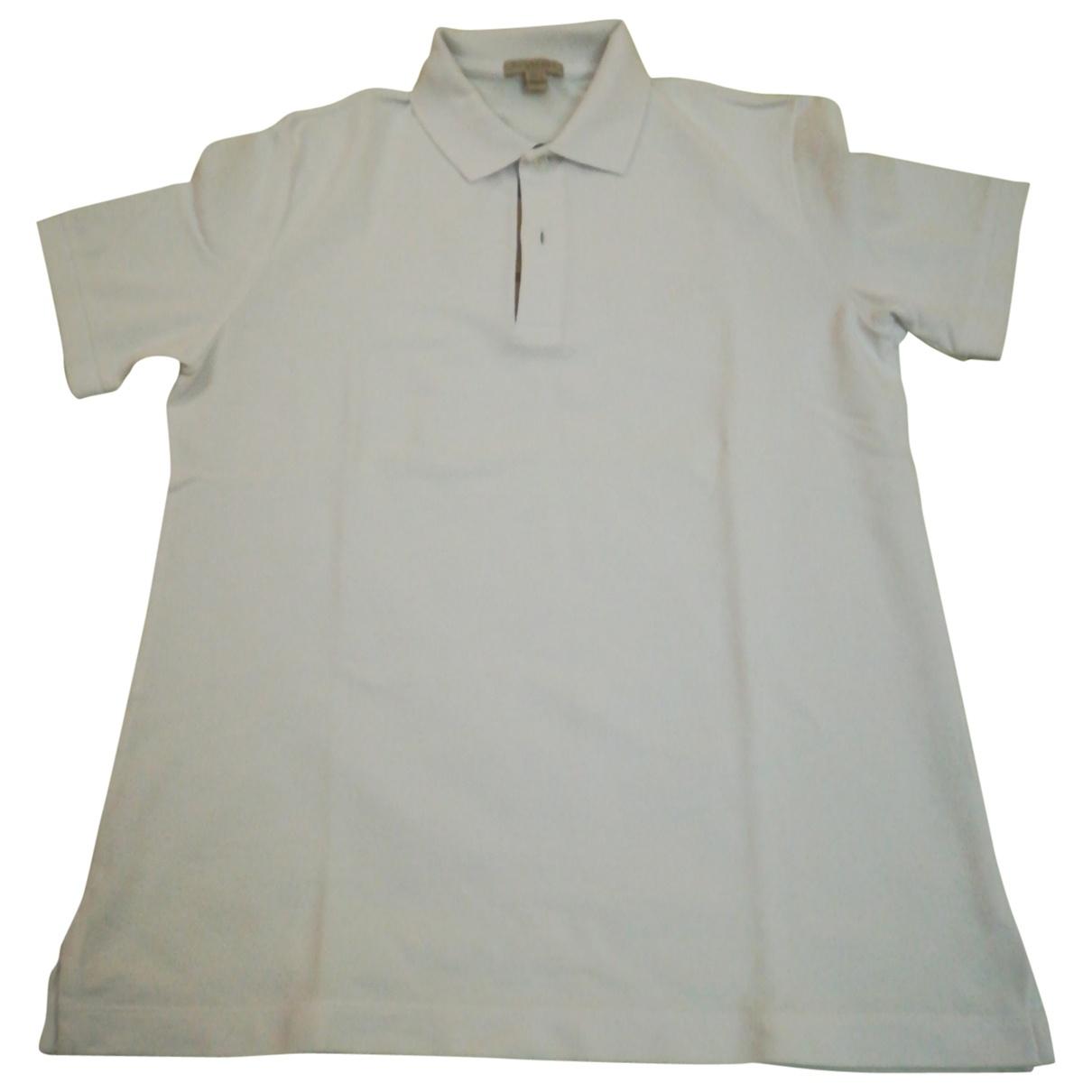 Burberry \N White Cotton Polo shirts for Men M International