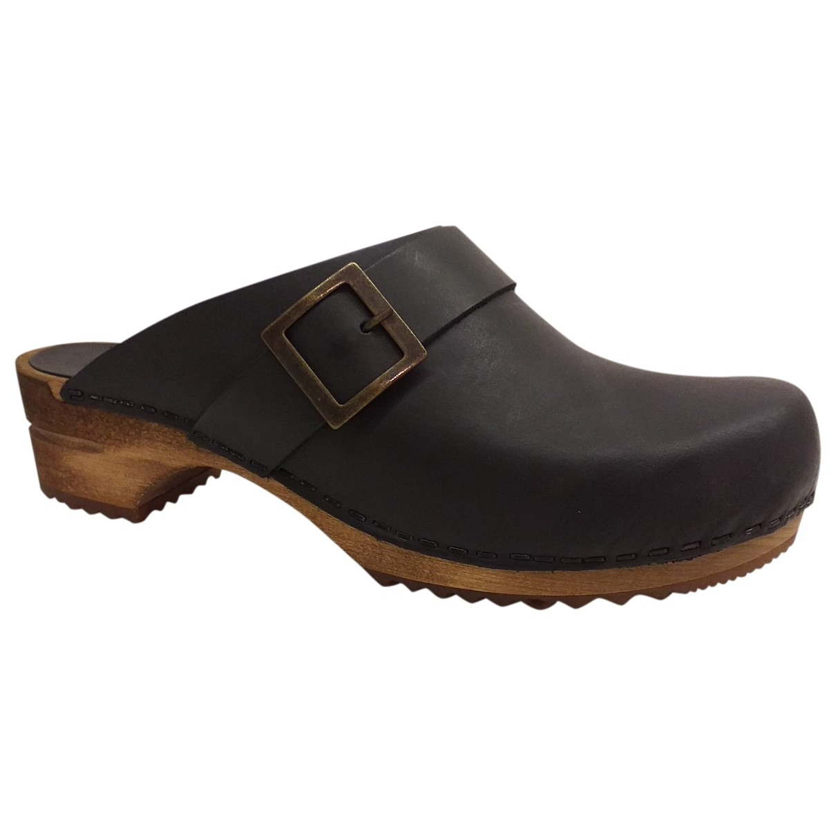 Non Signé / Unsigned \N Black Leather Mules & Clogs for Women 40 EU