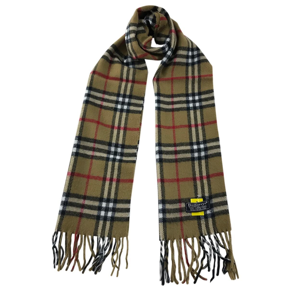 Burberry \N Brown Wool scarf for Women \N