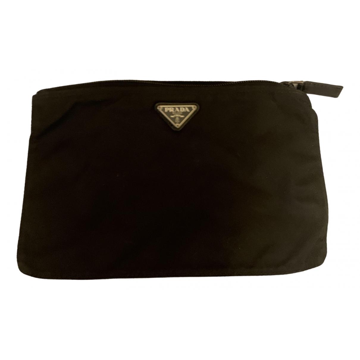 Prada - Petite maroquinerie   pour homme en coton - noir