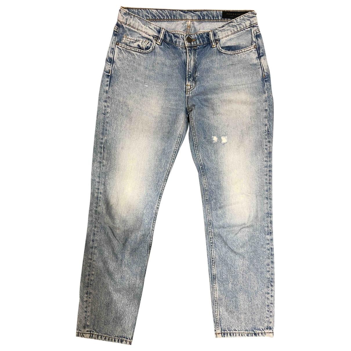 All Saints \N Blue Cotton Jeans for Women 28 US
