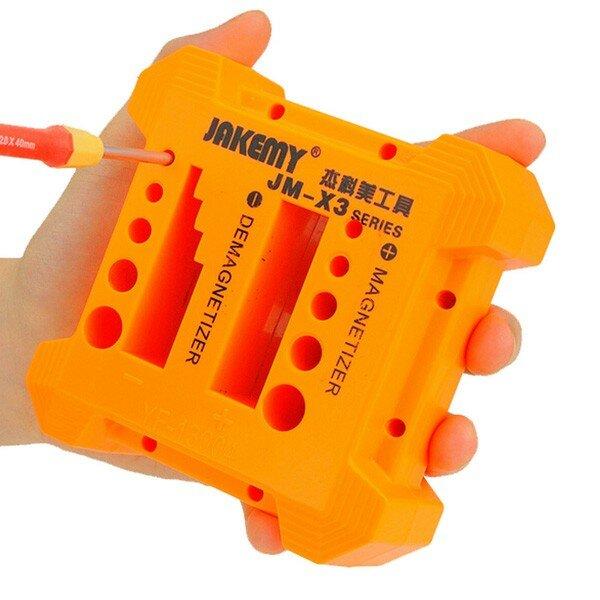 JAKEMY JM-X3 Magnetizer Demagnetizer For Steel Screwdriver Blades Tweezers Hand-tools Metal Tools
