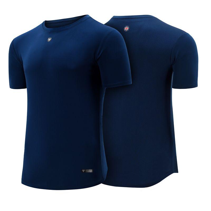 RDX T1 T Shirt Bleu A Manches Courtes