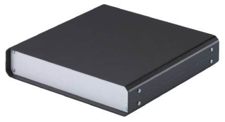 METCASE Unicase Black Aluminium Project Box, 250 x 250 x 50mm
