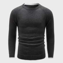 Men Raglan Sleeve Sweater
