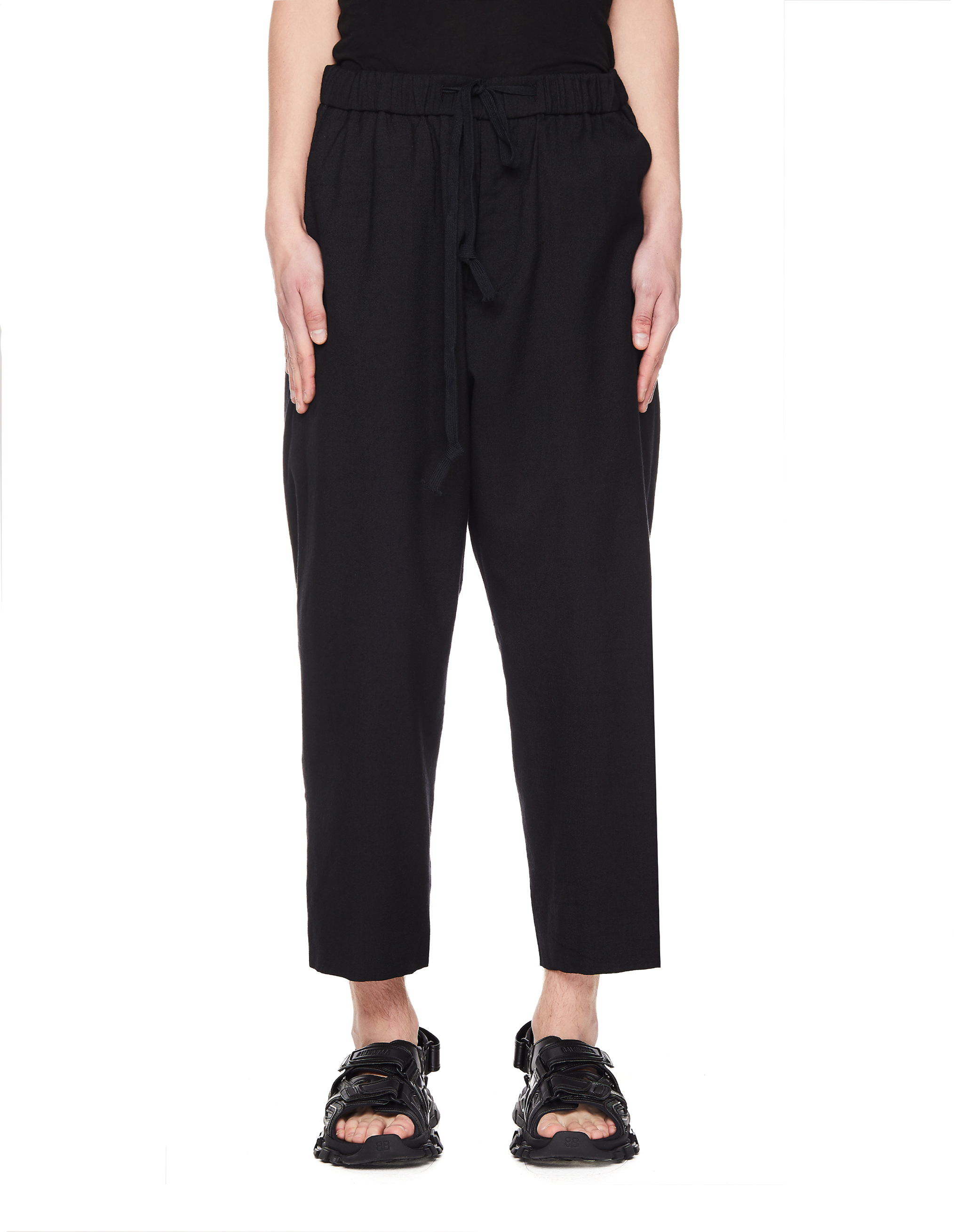 Ziggy Chen Wool and Silk Cropped Trousers