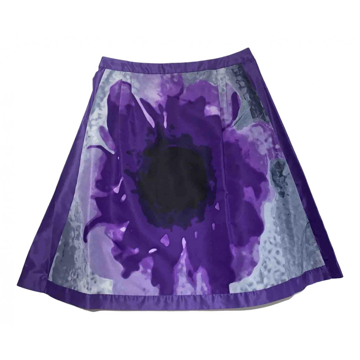 Celine \N Purple Silk skirt for Women 38 FR