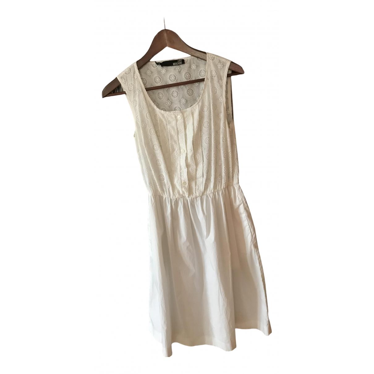 Moschino Love \N Kleid in  Ecru Baumwolle