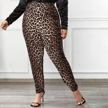 Pantalones Extra Grande Leopardo Casual
