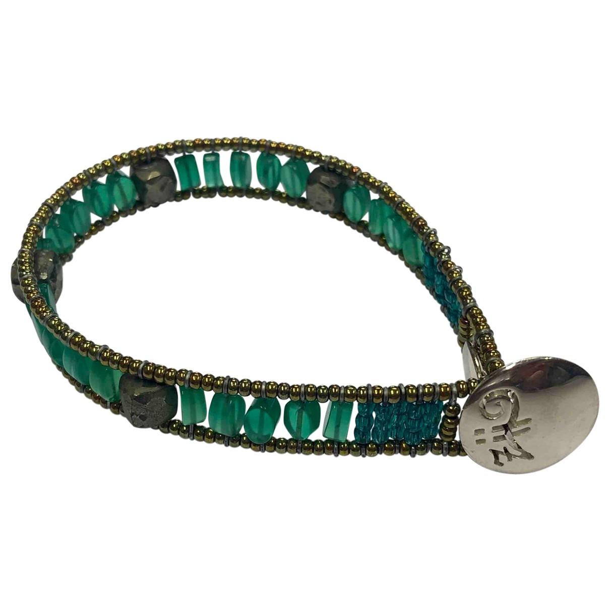 - Bracelet Motifs Ethniques pour femme en argent - vert