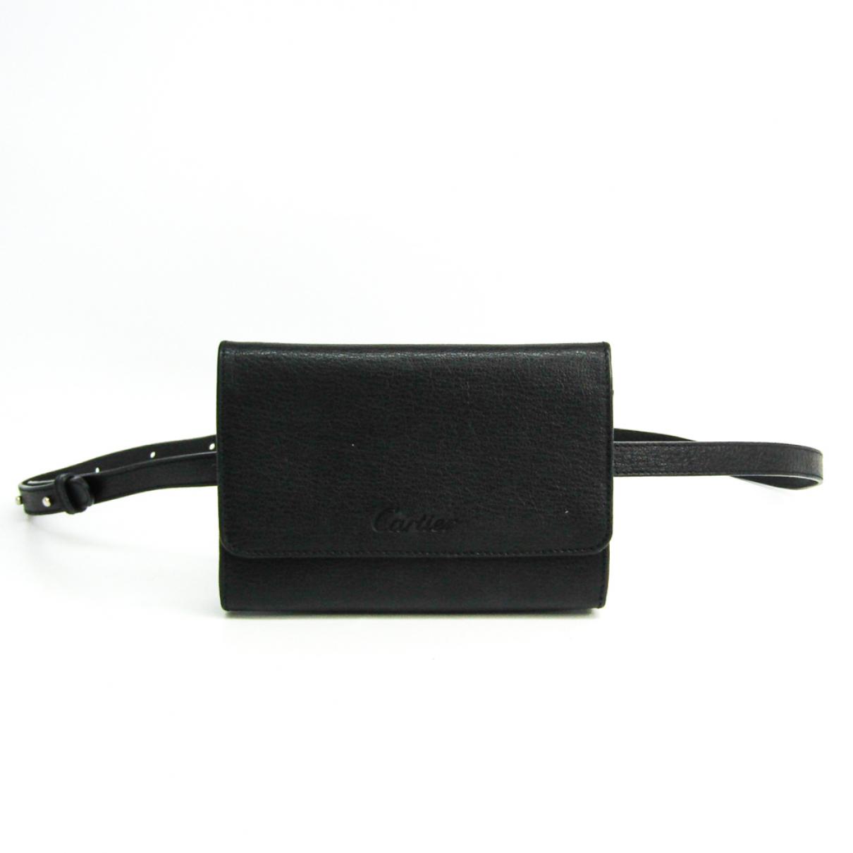 Cartier - Sac a main   pour femme en cuir - noir