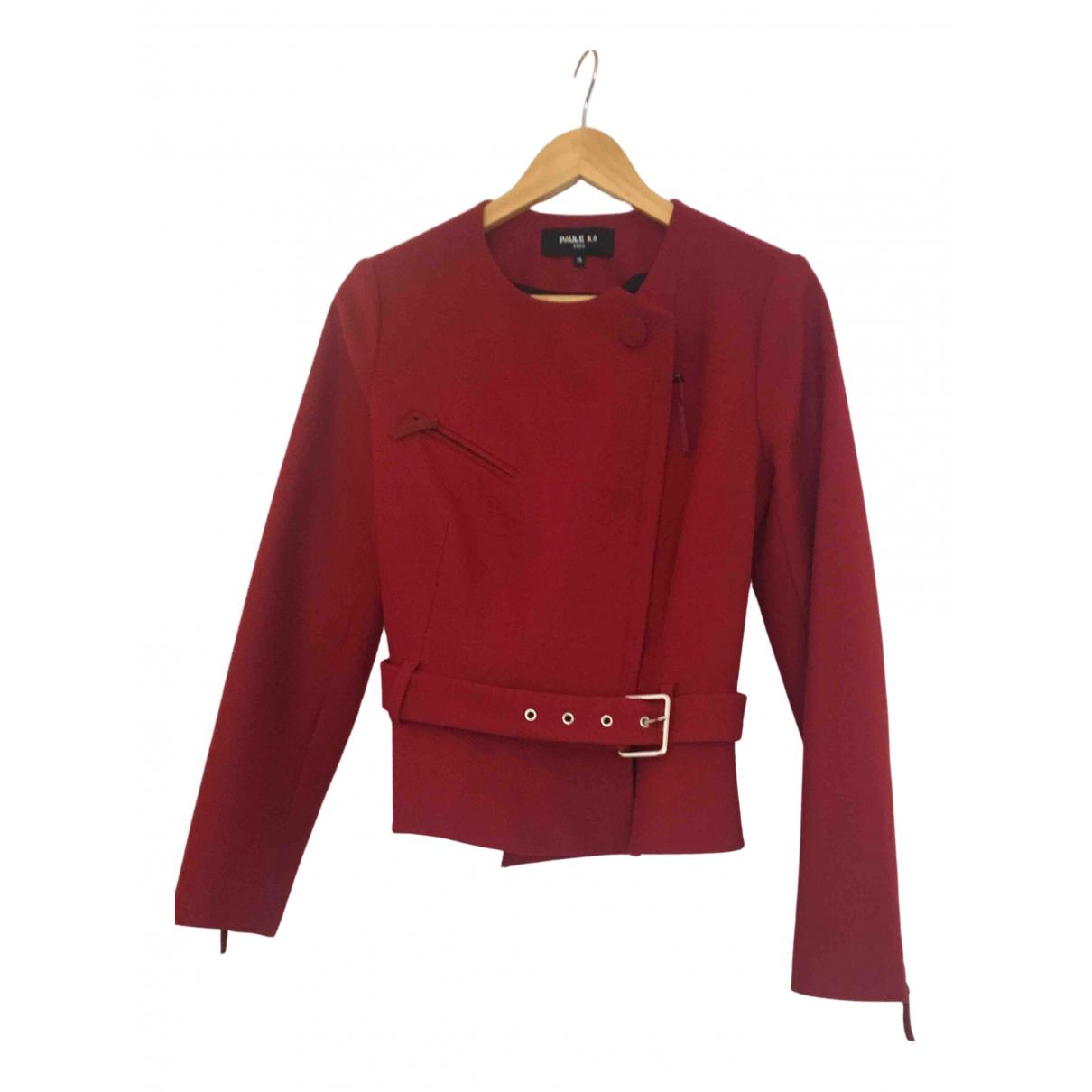 Paule Ka - Veste   pour femme en laine - rouge