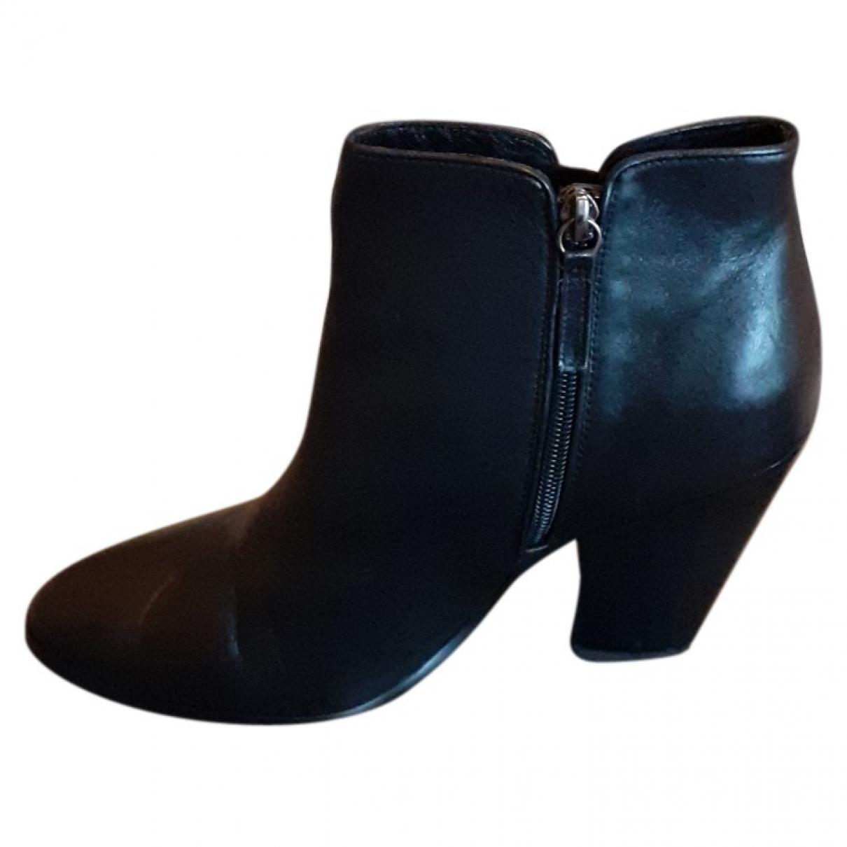 Lola Cruz - Boots   pour femme en cuir - noir