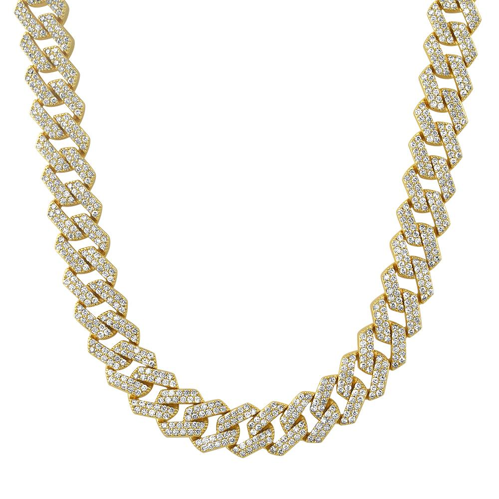 Turkish Cuban 14MM Wide CZ Bling Bling Chain