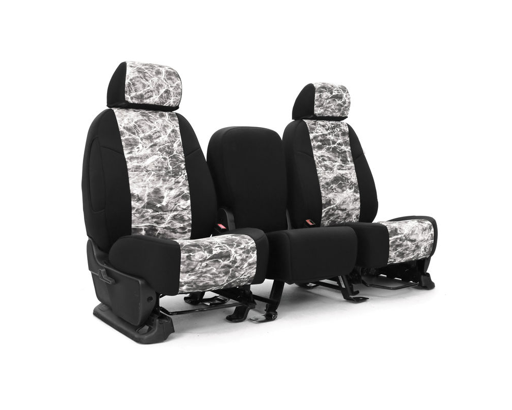 Coverking CSC2MO25CH10217 Skanda Custom Seat Covers 1 Row Neosupreme Mossy Oak Elements Manta with Black Sides Front Chevrolet Silverado 1500 2019-202