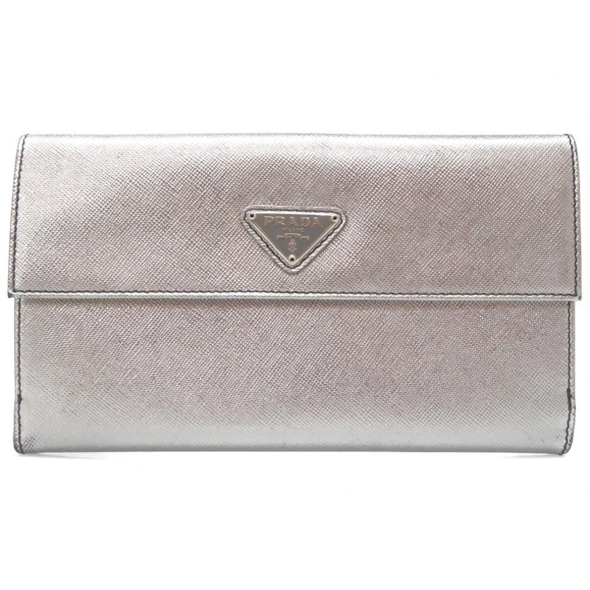 Prada \N Silver Leather wallet for Women \N