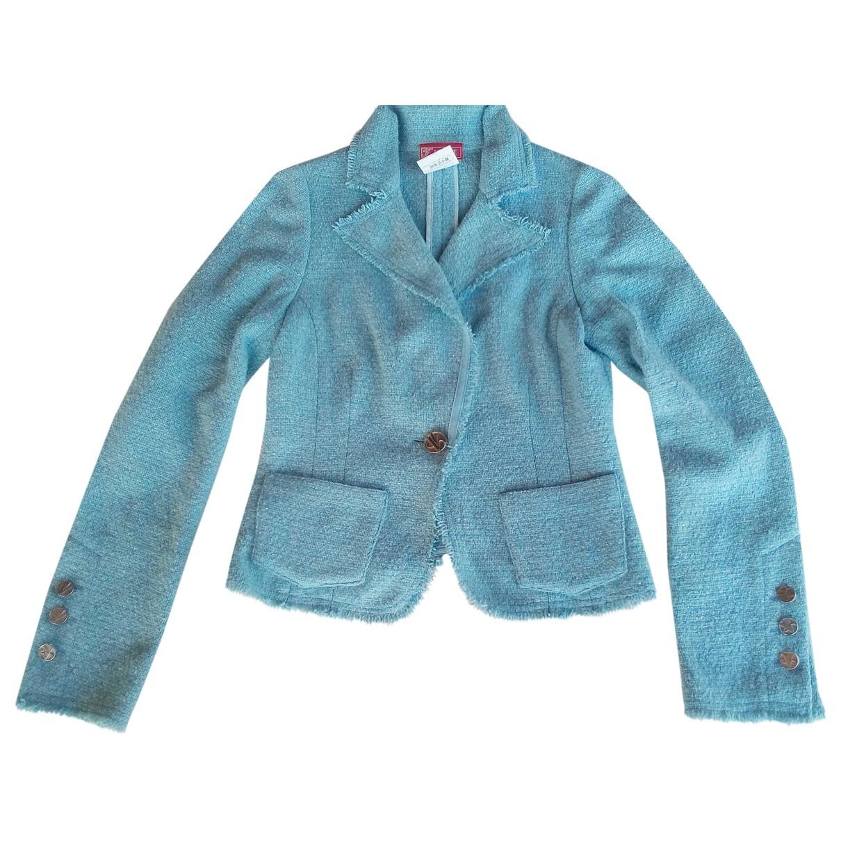 Versace Jean - Veste   pour femme en laine - bleu