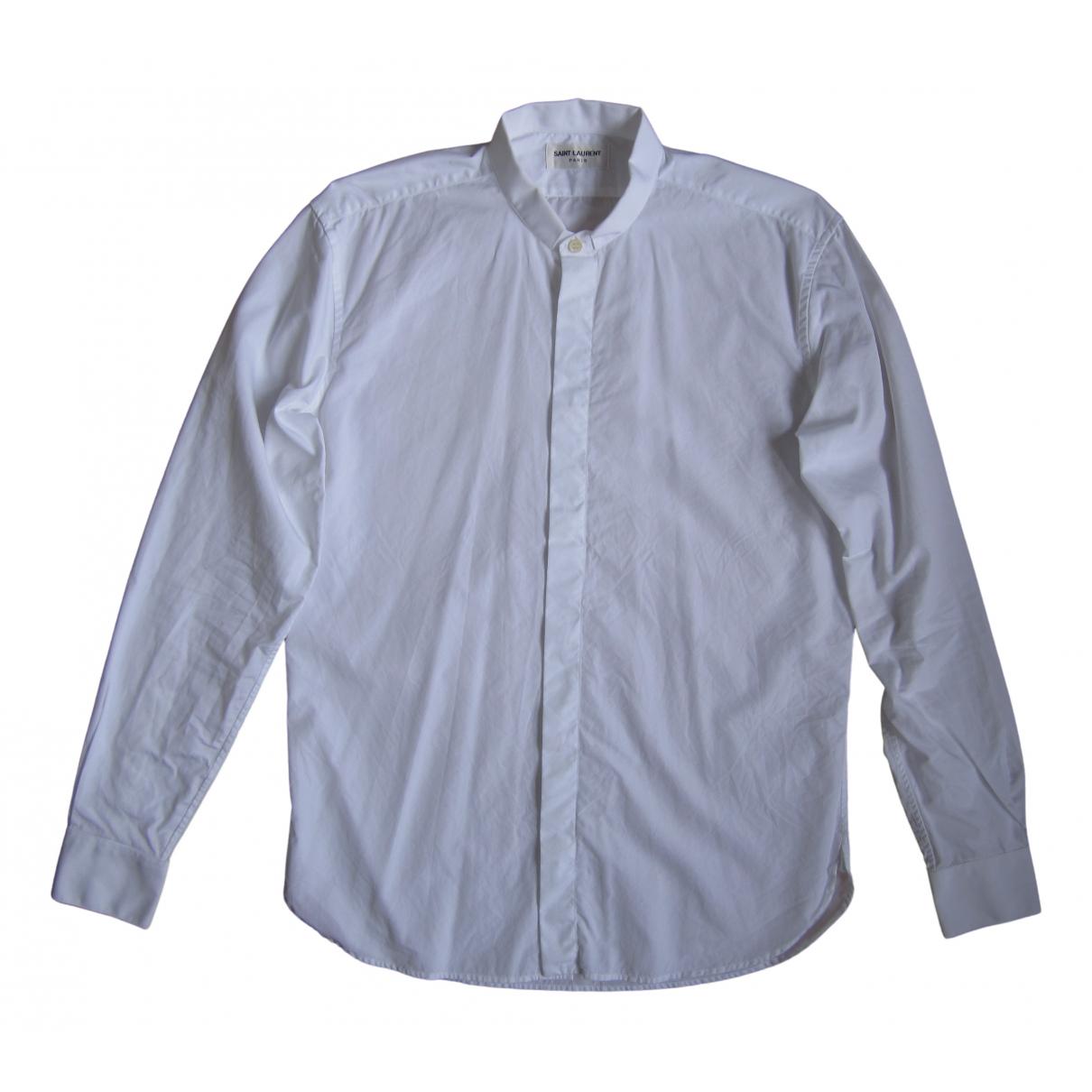 Saint Laurent - Chemises   pour homme en coton - blanc