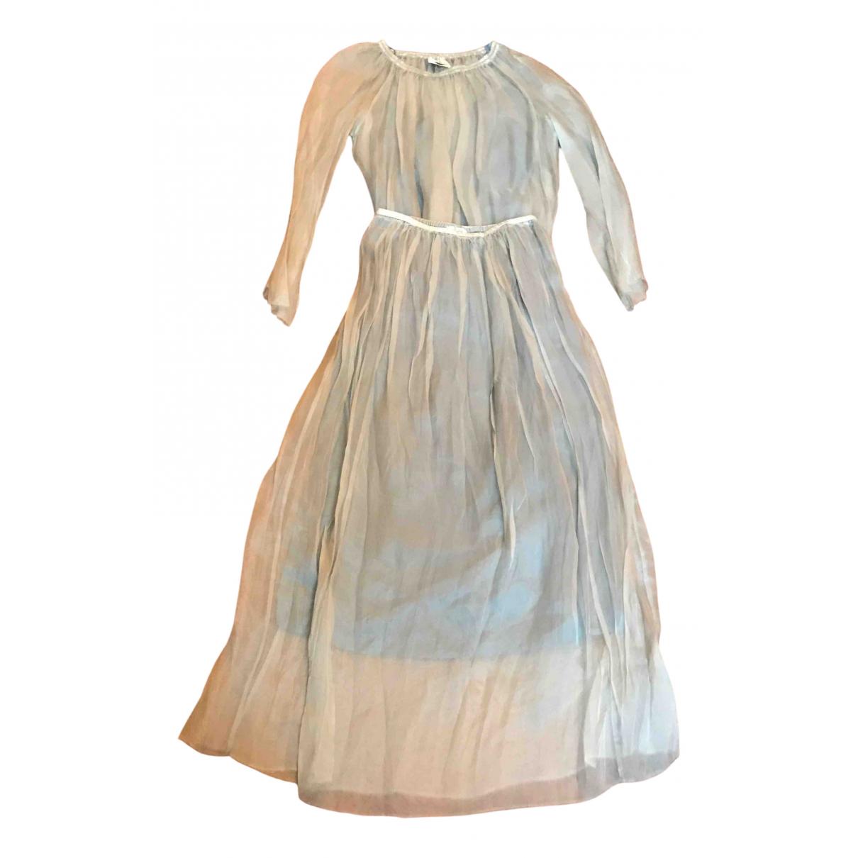 Forte_forte - Robe   pour femme en soie - vert
