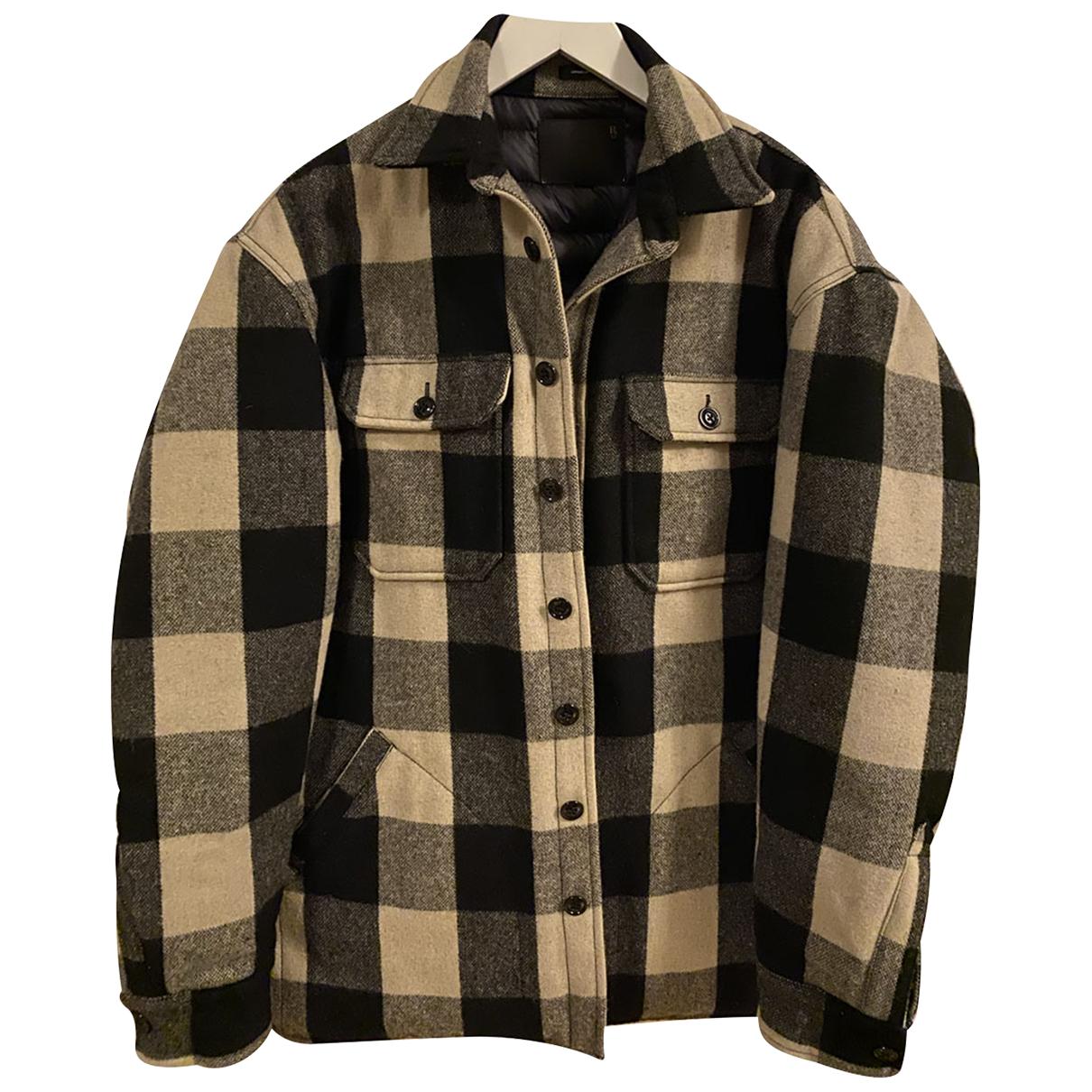 R13 - Vestes.Blousons   pour homme en laine - noir