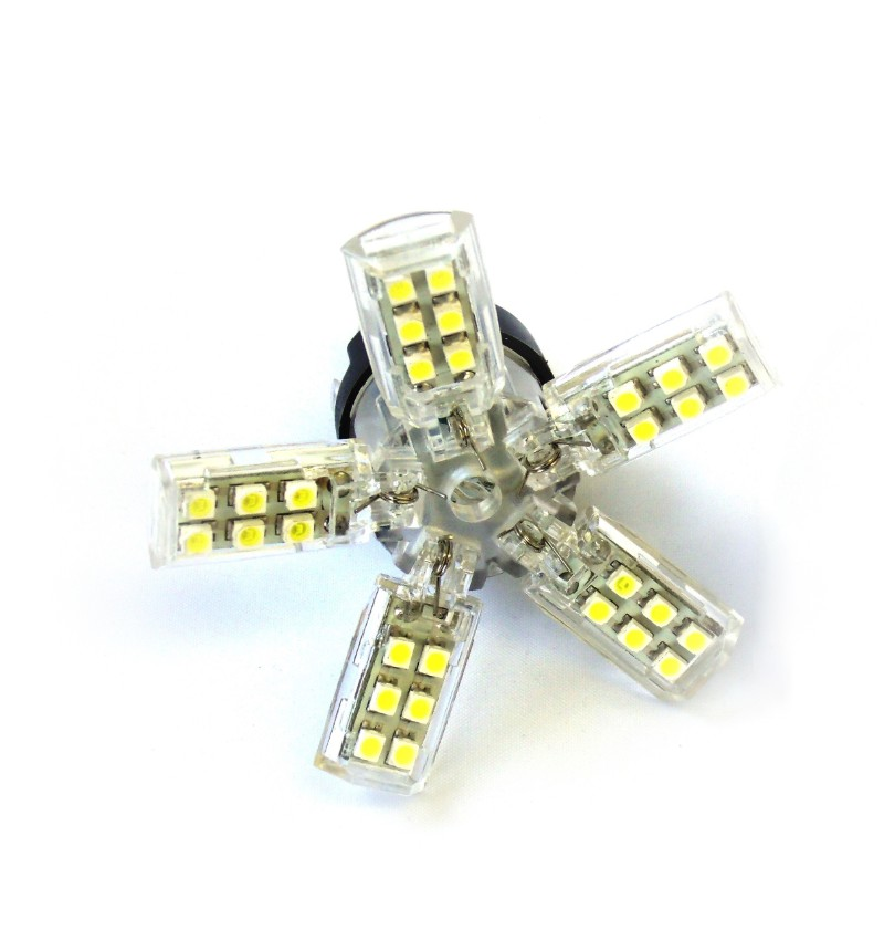 Race Sport Lighting 3156-SPY-WHITE White 3156 Spyder 5050 LED Replacement Bulb Pair