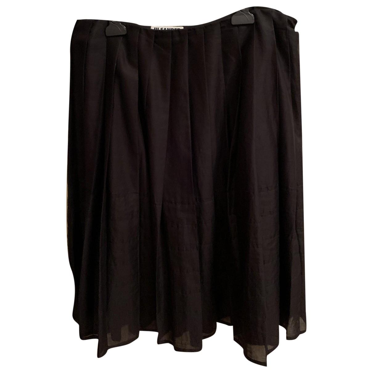 Jil Sander - Jupe   pour femme en coton - noir